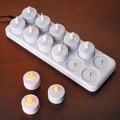 Rechargeable Tea Light Candles-Tea Light Flameless Candles