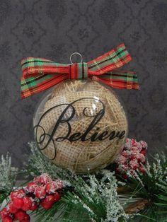 Burlap believe ornament via lizzies homespun holidays pinterest 20 christmas ornaments decorating ideas solutioingenieria Gallery