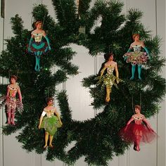 make articulated paper doll ornaments, free doll printable