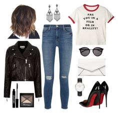 ♡mon perfecto en cuir...♡ by clarinette38 on Polyvore featuring polyvore fashion style Étoile Isabel Marant Frame Denim Christian Louboutin LULUS Daniel Wellington House of Harlow 1960 Yves Saint Laurent Rimmel Lord & Berry clothing