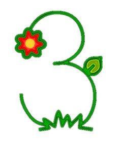 Alfabeto con flores bordadas en colores alegres. | Oh my Alfabetos!