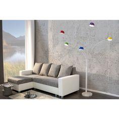 Moderne vloerlamp 5 lichten kleurrijk - 22775