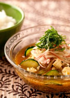 カレー冷や汁 のレシピ・作り方 │ABCクッキングスタジオのレシピ ... 宮崎県の郷土料理である冷や汁を日の出 純米料理酒・日の出 昔ながらの本みりんのコクを与えたカレー味にアレンジしました! ごはんの代わりに、そうめんや稲庭うどん ...