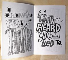 Zine focused entirely on hand-drawn type. I LOVE this! [by Chris Piascik]
