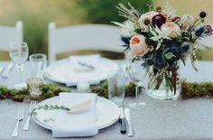 Table bouquets...juliet rose centerpiece