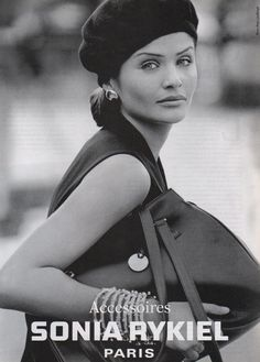 ☆ Helena Christensen | Photography by Peter Lindbergh | For Sonia Rykiel…