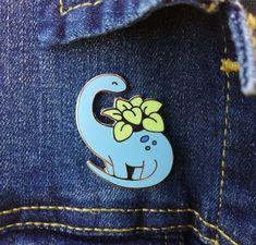 Your place to buy and sell all things handmade Pins Badge, Bag Pins, Cute Dinosaur, Dinosaur Crafts, Jacket Pins, Cool Pins, Pin And Patches, Hard Enamel Pin, Lapel Pins