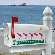 Silhouette Flamingo Decorative Mailbox574 x 574   49.8KB   www.mailboxcollectionsetc.c...