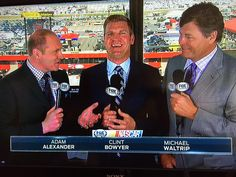I wished @adam1alexander luck yesterday w/ @Kenny_Wallace & @MW55 Today....  for ya w/ @ClintBowyer. #NASCAR