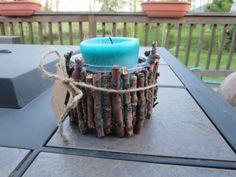 DIY Twig Candle Holder - or pen holder!