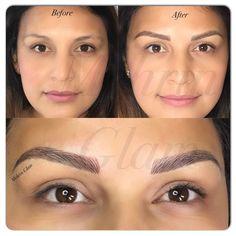 Microblading Eyebrows - Blushing in Hollywood