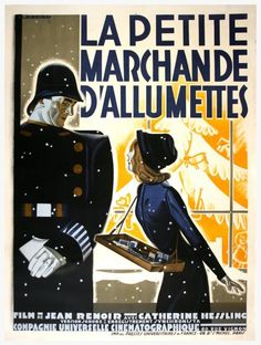 French movie poster image for La petite marchande d'allumettes The image measures 1200 * 1589 pixels and is 329 kilobytes large. Jean Renoir, Bob Fosse, Zelda Fitzgerald, Isadora Duncan, Camille Claudel, Bruce Timm, James Joyce, Royal Ballet, David Lynch