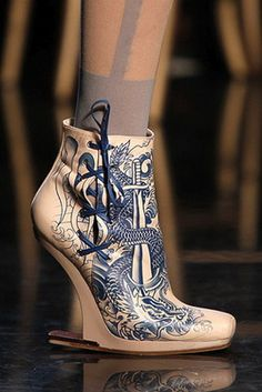 springs wildest shoes...Jean Paul Gaultier