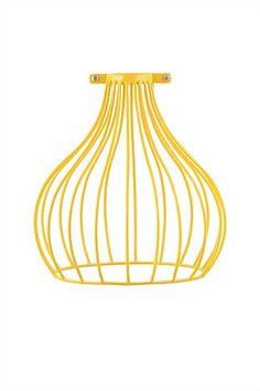 Up-date your decor with these modern industrial style wire lamp shades. They look great hung by themselves, or is a group. Cage Light, Light Bulb, Lamp Shades, Light Shades, Neon Room, Yellow Interior, Secret Rooms, Homewares Online, Retro Color