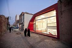 No Name Shop / Ali Dehghani, Ali Soltani & Atefeh Karbasi / Najafabad, Iran Retail Architecture, Islamic Architecture, Contemporary Architecture, Amazing Architecture, Architecture Design, Building Architecture, Facade Design, Exterior Design, Interior And Exterior