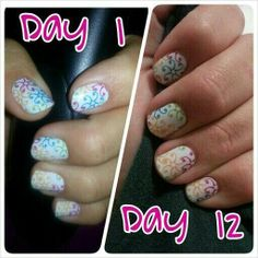 Wearing Jamberry nails Day 1 to Day 12 and they still look amazing! :D find over 350 deigns online at www.nailz4all.jamberrynails.com