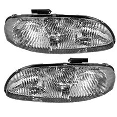 This Is A Brand New Aftermarket Passenger  Driver Side Headlight Assembly Pair That Fits A 19952001 Chevrolet Lumina  19951999 Chevrolet Monte Carlo DOT SAE Approved OE Replacement Composite  Combination Type Clear Plastic Lens With Bulbs >>> More info could be found at the affiliate link Amazon.com on image.