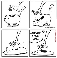 Funny Animal Memes, Funny Animals, Cute Animals, Animal Humor, Funny Memes, Cat Comics, Funny Comics, Crazy Cat Lady, Crazy Cats
