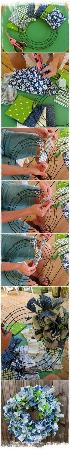 DIY Fabric Wreath Tutorial   DIY & Craft Ideas