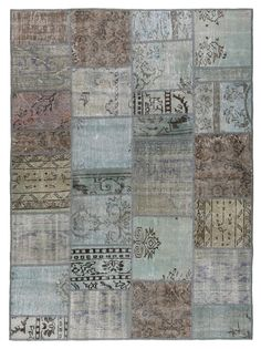 Rug 76x55 Inches Carpet Turkish Vintage Patchwork Rug Geometric Light Gray Color Oriental Rug Antique Kilim