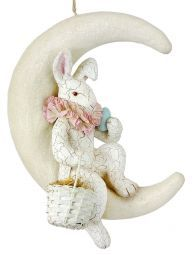 Bunny on White Moon