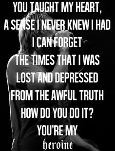 Silverstein//Heroine - and how do I forget what it felt like to be on you...