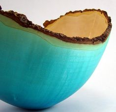 Blue box elder bowl gorgeous***Research for possible future project. Tenerife, Peacock Blue Bedroom, My Favorite Color, My Favorite Things, Amaco Glazes, Shades Of Turquoise, Wood Turning Projects, Wood Bowls, Blue Box