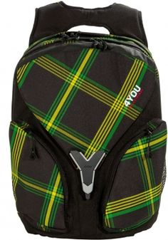 727d0430c64ad 4You Igrec Schulrucksack Igrec S Checker Green Yellow 642 checker black  green yellow