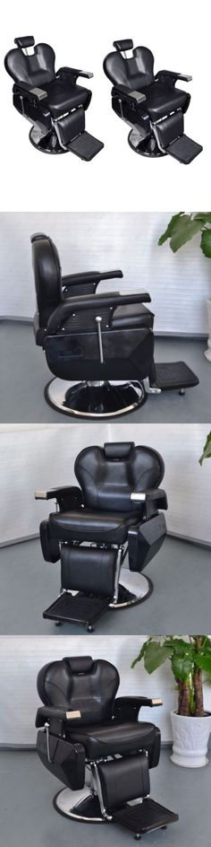 Stylist Stations And Furniture: 2~All Purpose Hydraulic Recline Barber Chairs  Salon Beauty Spa
