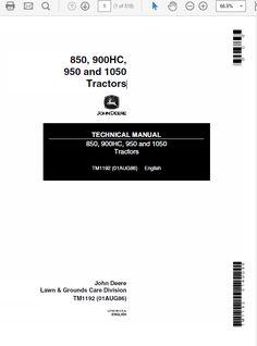 TM2289 John Deere 2305 Compact Utility Tractor Service