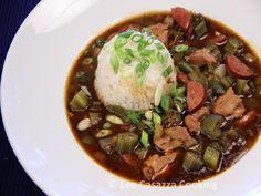 Izetta's Southern Cooking: CAJUN CHICKEN & ANDOUILLE SAUSAGE GUMBO