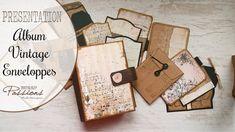[PRESENTATION] Mini Album Enveloppes Vintage Album Vintage, Album Photo Scrapbooking, Mini Albums Scrap, Junk Journal, Presentation, Mixed Media, Messages, Minis, Books