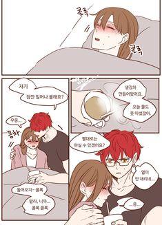 Anime Love Couple, Manga Couple, Anime Couples Manga, Mystic Messenger Comic, Mystic Messenger Characters, Animes Yandere, Fanarts Anime, Yuri Cosplay, Cute Anime Coupes
