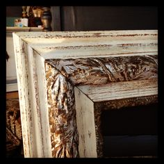 All you need is a little Old White Chalk Paint® and silver foil highlights.