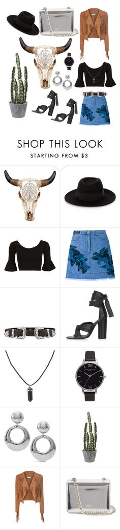 """""""Untitled #9"""" by sara-miah ❤ liked on Polyvore featuring Maison Michel, WearAll, House of Holland, B-Low the Belt, Topshop, Olivia Burton, Chico's, Glamorous and Rochas"""