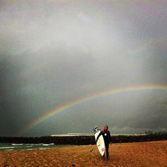Steph under the rainbow