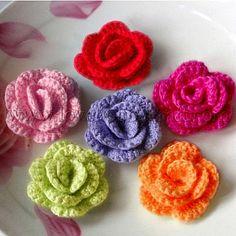 Fashion Style Flower Handcraft Appliques Mixed Color Cotton  4.3*2cm 4.3*2cm