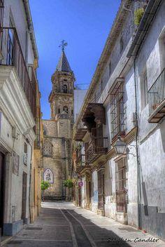 The streets of Jerez de la Frontera, Spain