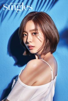 UEE is sultry and shows a little skin for 'Singles' Korean Short Hair, Short Hair Cuts, Korean Beauty, Asian Beauty, Uee After School, Shot Hair Styles, Yu Jin, Short Girls, Beautiful Actresses
