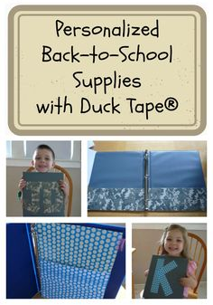 Personalized Back to School Supplies with Duck Tape®