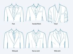 lapel collar types for blazer or jacket