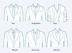 lapel collar types for blazer or jacket