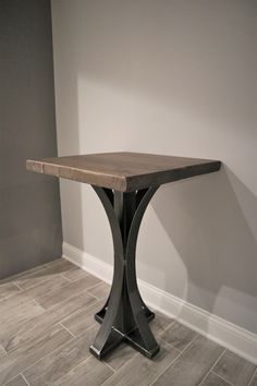 Metal arched base side table!