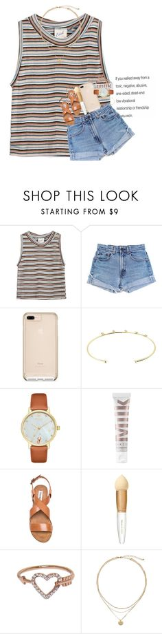 """k"" by ellaswiftie13 on Polyvore featuring Edith A. Miller, Levi's, mizuki, Kate Spade, MILK MAKEUP, Steve Madden, Elizabeth Arden, Eternally Haute and Tory Burch"
