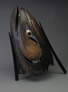 Incarnation of the Salmon King  Ron Layport  2006    Size   H: 14.25 in  W: 11 in  D: 7 in