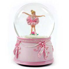 globe music boxes | San Francisco Music Box Ballerina Dancer and Bows Water Globe ...