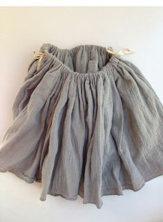 Swingset Skirt inspiration: try cotton gauze for both layers for a similar look