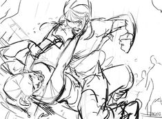 Two sisters fighting? Action Pose Reference, Anime Poses Reference, Figure Drawing Reference, Anatomy Reference, Hand Reference, Action Poses, Fighting Drawing, Drawing Body Poses, Gesture Drawing