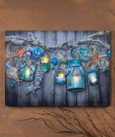 Reminds me of my backyard at Pismo Beach! Love this Seaside Collection Lighted Wrapped Canvas on #zulily! #zulilyfinds