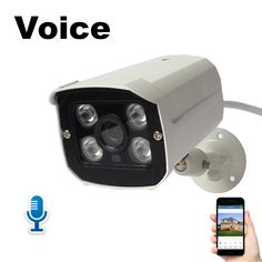IP Camera Audio with Microphone 1080P Voice & Video Monitor 2MP Waterproof Surveillance Security Camera for Home Safe ONVIF P2P